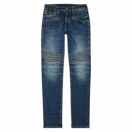 True Religion Rocco Blue Skinny Biker Jeans
