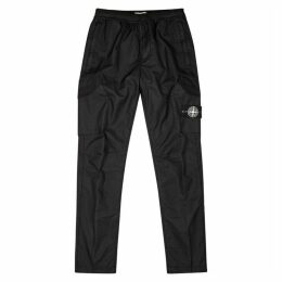 Stone Island Black Cotton-blend Sweatpants