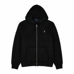 Polo Ralph Lauren Black Fleece-lined Cotton-blend Sweatshirt