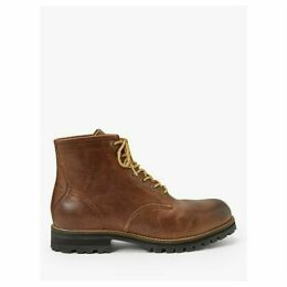 John Lewis & Partners Nevis Leather Plain Toe Work Boots, Tan