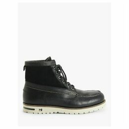 Scotch & Soda Levant Moccasin Toe Boots, Black