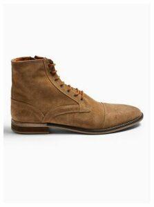 Mens Brown Tan Suede Sarge Boots, Brown
