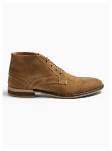 Mens Brown Tan Suede Sarge Chukka Boots, Brown