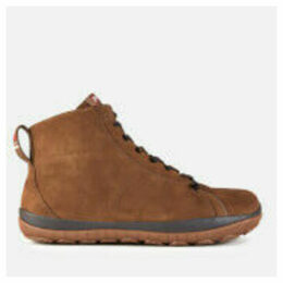 Camper Men's Peu Waterproof Suede Lace Up Boots - Brown - UK 11
