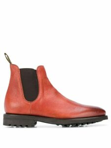 Doucal's distressed Chelsea boots - Brown