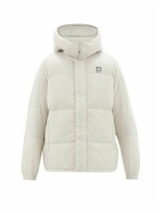 66°north - Dyngja Hooded Quilted Down Jacket - Mens - Silver