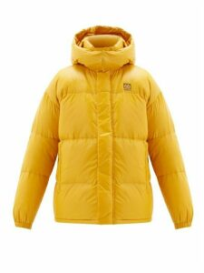 66°north - Dyngja Hooded Quilted Down Jacket - Mens - Yellow