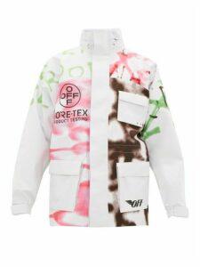 Off-white - Graffiti Print Gore Tex Jacket - Mens - White Multi