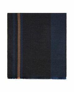 The Men's Store at Bloomingdale's Oversized Border-Striped Scarf - 100% Exclusive