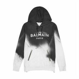 Balmain Logo-print Hooded Cotton Sweatshirt