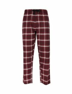 Mens Red Checked Lounge Pants, Red