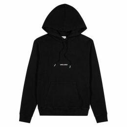 Saint Laurent Black Logo Hooded Cotton Sweatshirt