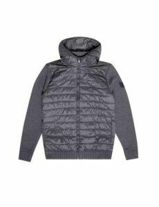 Mens Grey Hooded Zip Through Jacket, MID GREY