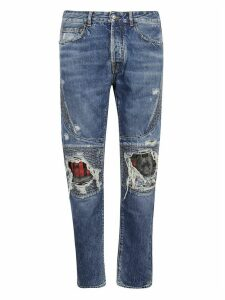 Marcelo Burlon Distressed Detail Jeans