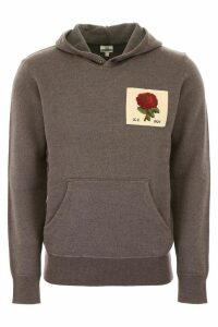 Kent & Curwen Hoodie With Rose Patch