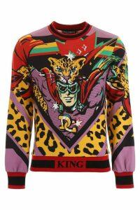 Dolce & Gabbana Leopardking Sweatshirt