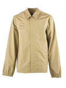 Helmut Lang Beige Detachable Hood Raincoat