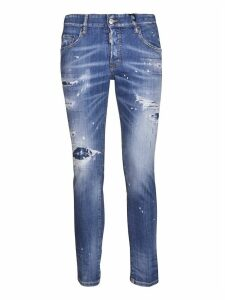 Dsquared2 Distressed Fade Effect Jeans