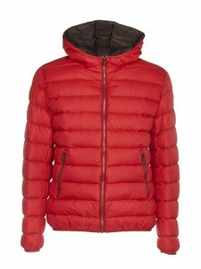 Colmar Red And Brown Down Jacket With Hood