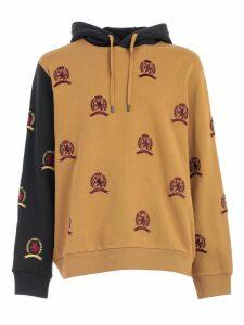 Tommy Hilfiger Sweatshirt All Over Crest W/hood