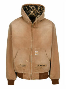R13 Distressed Hooded Jacket