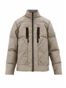 Stone Island Shadow Project - Laser-cut Down-filled Poly-hide Jacket - Mens - Grey