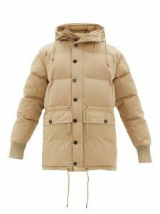 Raey - Drawstring-waist Hooded Puffer Jacket - Mens - Light Brown