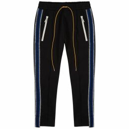 RHUDE Traxedo Black Stretch-jersey Sweatpants
