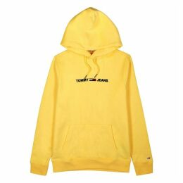 Tommy Jeans Yellow Logo-embroidered Cotton Sweatshirt