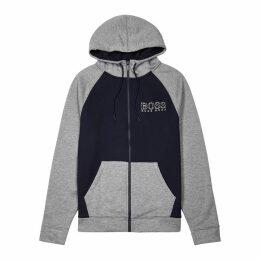 BOSS Grey Logo Jersey Sweatshirt