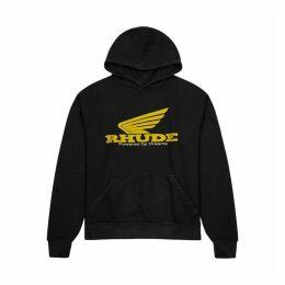 RHUDE Rhonda Black Cotton-jersey Sweatshirt