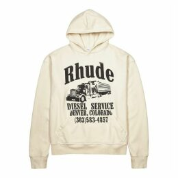 RHUDE Diesel Service White Cotton-jersey Sweatshirt