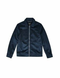 Mens 1904 Navy Faux Suede Jacket*, Blue