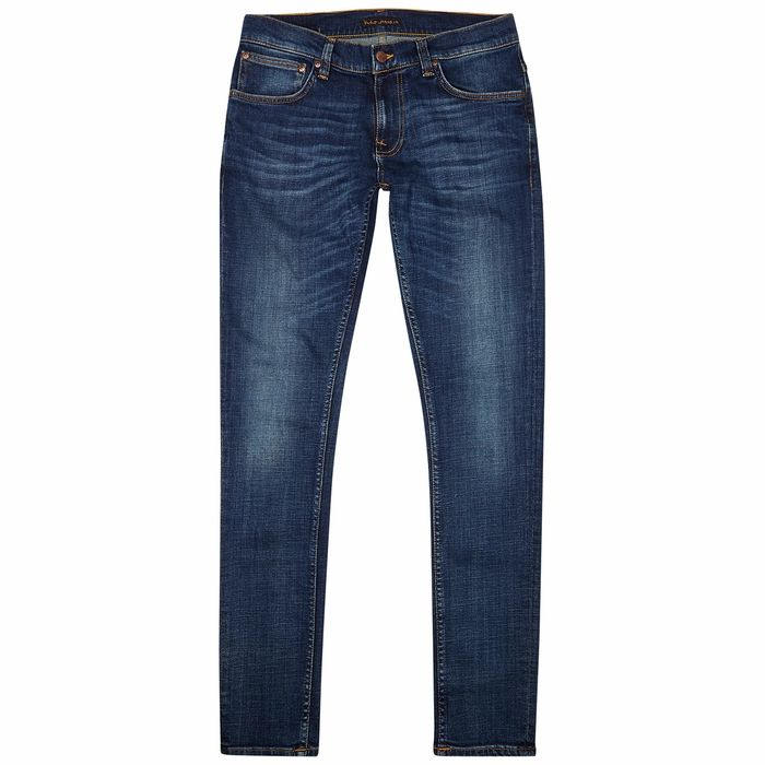 Nudie Jeans Tight Terry Blue Slim-leg Jeans
