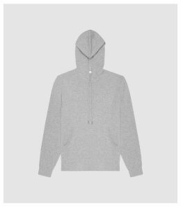 Reiss Hooper - Cashmere Hoodie in Grey, Mens, Size XXL