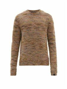 Rag & Bone - Brock Marled-bouclé Wool-blend Sweater - Mens - Brown Multi