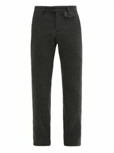 Oliver Spencer - Halford Wool & Cotton-blend Tapered-leg Trousers - Mens - Grey