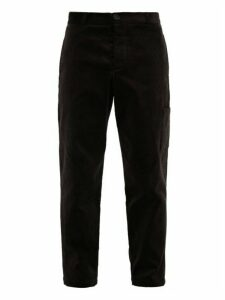 Oliver Spencer - Judo Cotton-corduroy Cargo Trousers - Mens - Black