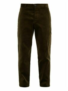 Oliver Spencer - Judo Cotton-corduroy Trousers - Mens - Green