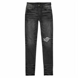 Amiri Broken Grey Slim-leg Jeans