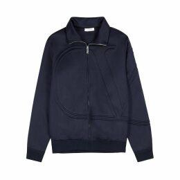 Valentino VLogo Navy Jersey Sweatshirt
