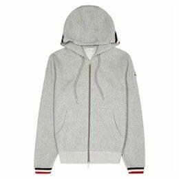 Moncler Maglia Grey Hooded Cotton Sweatshirt
