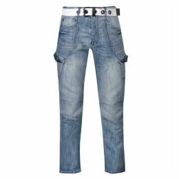 Airwalk Belted Cargo Jeans Mens - Blue
