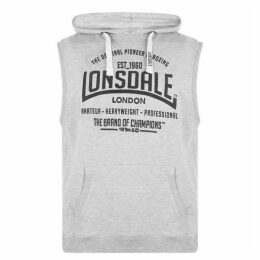 Lonsdale Box Sleeveless Hoody Mens - Grey
