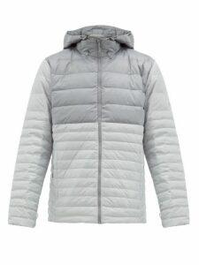 Mammut Delta X - Broad Peak Down-filled Ripstop Hooded Jacket - Mens - Light Grey