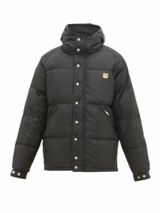 Maison Kitsuné - Fox Head Logo-patch Quilted Down Jacket - Mens - Black