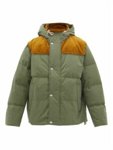 Acne Studios - Orfeo Corduroy-panelled Down-filled Canvas Jacket - Mens - Khaki