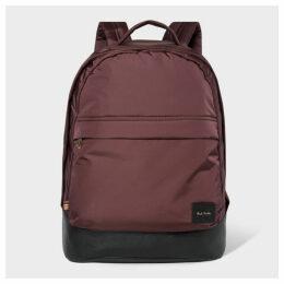 Men's Oxblood Canvas Backpack