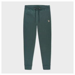 Men's Washed Green Zebra Logo Cotton Sweatpants