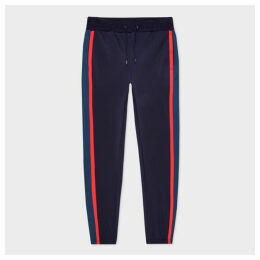 Men's Cotton-Blend Track Pants With Contrast Side Stripes